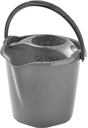 MOP HEGA Star Deluxe Round Bucket 13.5 L, Grey, 27 x 37 x 28 cm
