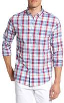 Vineyard Vines Men's Tucker Patriots Point Slim Fit Plaid Sport Shirt