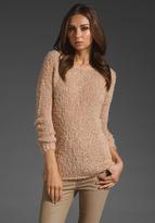 Eyelash Crop Boatneck Sweater