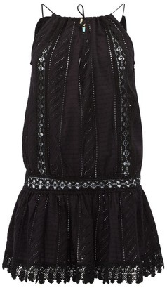 Melissa Odabash Chelsea Broderie-anglaise Cotton Mini Dress - Black
