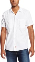 Dickies Occupational Workwear LS535WH S Polyester/ Cotton Mens Short Sleeve Industrial Work Shirt