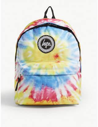 Hype Tie-dye print canvas backpack