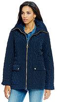 MICHAEL Michael Kors Quilted Front Zip Coat