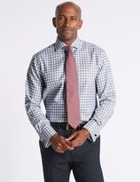 Marks and Spencer Pure Cotton Regular Fit Checked Shirt