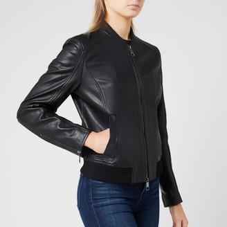HUGO BOSS Women's Jamegan Leather Jacket