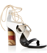 Proenza Schouler Grommet Tie Up Sandals