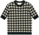 Gucci Houndstooth short sleeve sweater
