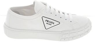 Prada Logo Lace Up Sneakers