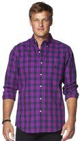 Chaps Men's Classic-Fit Graphic Check Button-Down Shirt