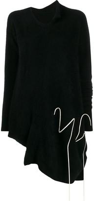 Yohji Yamamoto asymmetric draped jumper