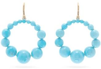 Irene Neuwirth Diamond, Kingman Turquoise & Gold Hoop Earrings - Womens - Yellow Gold