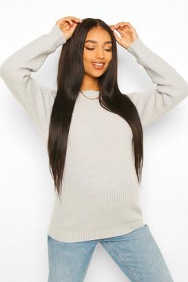 boohoo Maternity Crew Neck Sweater