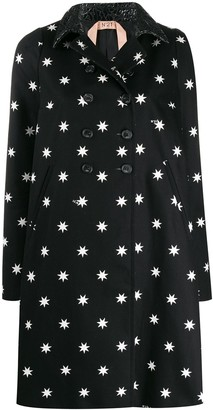 No.21 Star Print Double-Breasted Coat