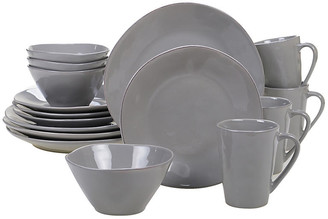 One Kings Lane Asst. of 16 Salerno Place Setting - Light Gray