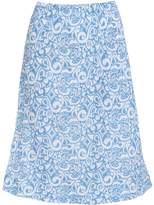 Fresh Produce Women's Casual Skirts WHT - White & Blue Paisley Sandbar Midi Skirt - Women
