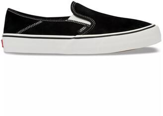 Vans Suede & Sherpa Slip-On SF Black & Checkerboard Shoes