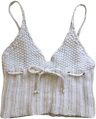 Miu Miu Beige Wool Top for Women
