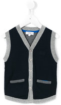 Boss Kids - ribbed trim knitted waistcoat - kids - Cotton - 5 yrs