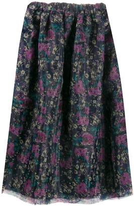Plan C floral print midi skirt