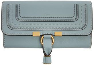 Chloé Blue Long Marcie Wallet