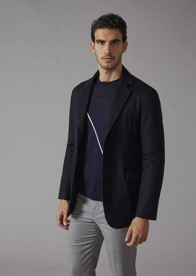 Giorgio Armani Cashmere Jacket With Cashmere Padding