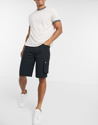 Levi's utility cargo shorts in mineral black