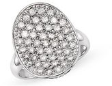 1 Carat Diamond 14K White Gold Pave Ring
