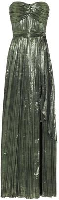 Jonathan Simkhai Metallic plisse gown