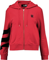 Love Moschino Cotton-blend hooded sweatshirt