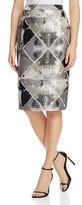 Calvin Klein Metallic Jacquard Pencil Skirt
