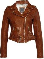 MAURITIUS - Women's Wild Cognac Leather Jacket