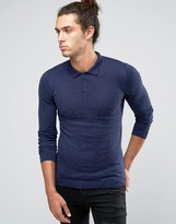 Asos Fitted Fit Knitted Polo in Cotton