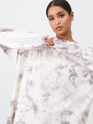 Missguided Tie Dye Sweater Dress - Nude
