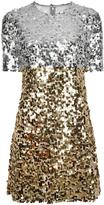 Dolce & Gabbana sequinned dress - women - Cotton/Polyamide/Polyester/Spandex/Elastane - 40