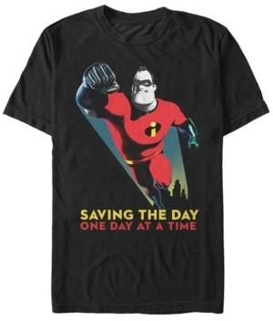 Disney Pixar Men's Incredibles Saving The Day, Short Sleeve T-Shirt