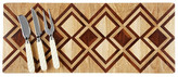 Oscar de la Renta Diamond Teak Inlay Cheese Board