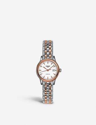 Longines L43743927 Flagship rose-gold stainless steel watch