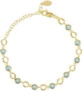 Latelita Milan Link Gemstone Bracelet Gold Blue Topaz