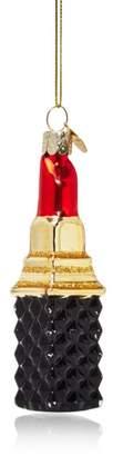 Red Lipstick Glass Ornament