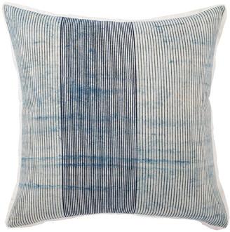 Jaipur Living Alicia Handmade Stripe Blue & White Throw Pillow