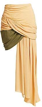 Jacquemus Women's Saaf Ruched Asymmetrical Skirt