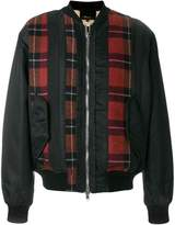 3.1 Phillip Lim plaid-panel bomber jacket