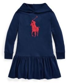 Polo Ralph Lauren Toddler Big Pony Jersey Hooded Dress