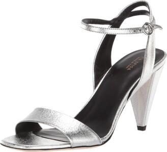 Via Spiga Womens Ria Silver Dress Sandal 5 M