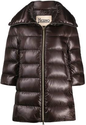 Herno Cleofe cropped sleeve jacket
