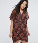 AX Paris Plus Paisley Zip Through Dress