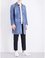 Mackintosh Faded-wash Denim Overcoat
