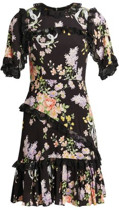 Needle & Thread Floral Diamond Elsa Mini Dress