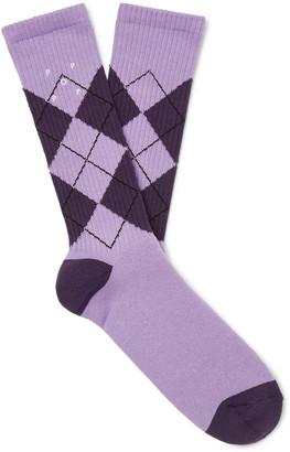 Pop Trading Company Logo-Embroidered Cotton-Blend Jacquard Socks