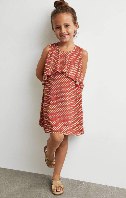 BCBGMAXAZRIA Chiffon Overlay Print Dress